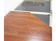 发热膜块安装木地板层次展示